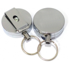 40mm Diameter Stainless Steel ID Badge Reels Pack of 2