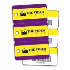 3 UP Plastic Key Tag Cards Pack of 500