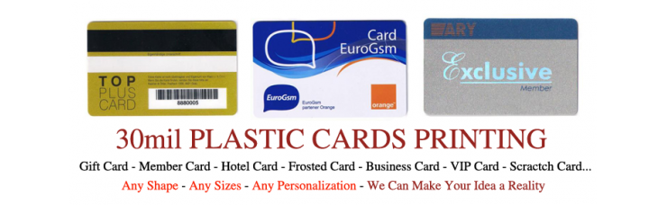 CR80 30mil Standard Size Plastic Cards Pack of 500