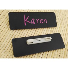 Stock Chalkboard Reusable PVC Name Badge 75x25x0.76mm