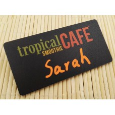 Stock Chalkboard Reusable PVC Name Badge 75x38x1.5mm