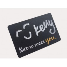 Stock Chalkboard Reusable PVC Name Badge 75x50x1mm