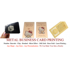 80x50mm Stainless Steel Metal Business Cards Pack of 100
