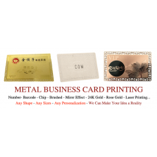 85X54mm Stainless Steel Metal Business Cards Pack of 100