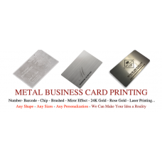 89x51mm Stainless Steel Metal Business Cards Pack of 100
