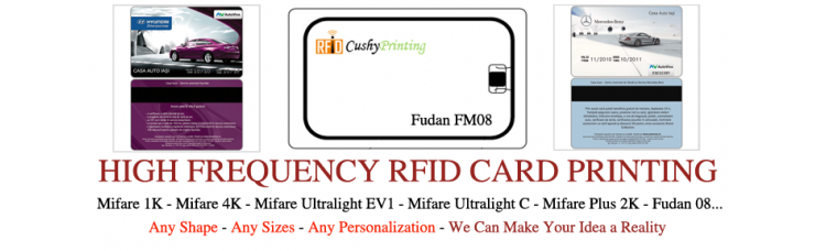 13.56MHz Fudan 1K RFID Contactless Smart Cards Pack of 500