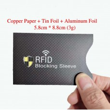 Copper Plate Aluminum Foil RFID Blocking Card Sleeve Pack of 100