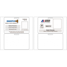 """2.75""""x4"""" 30mil Thickness Name Badge Pack of 1000"""