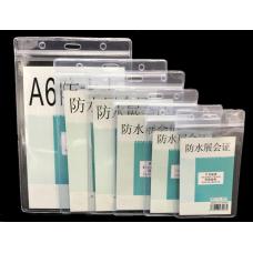 Transparent Soft PVC Name Badge Card Holder Pack of 50