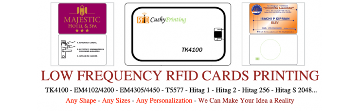 125KHz TK4100 RFID Contactless Smart Cards Pack of 500